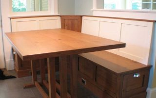 wooden kitchen table