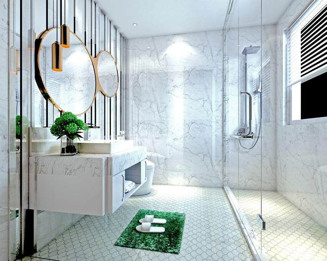 wet room style bathroom